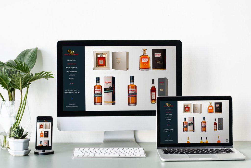 site Internet Cognac Peyrat