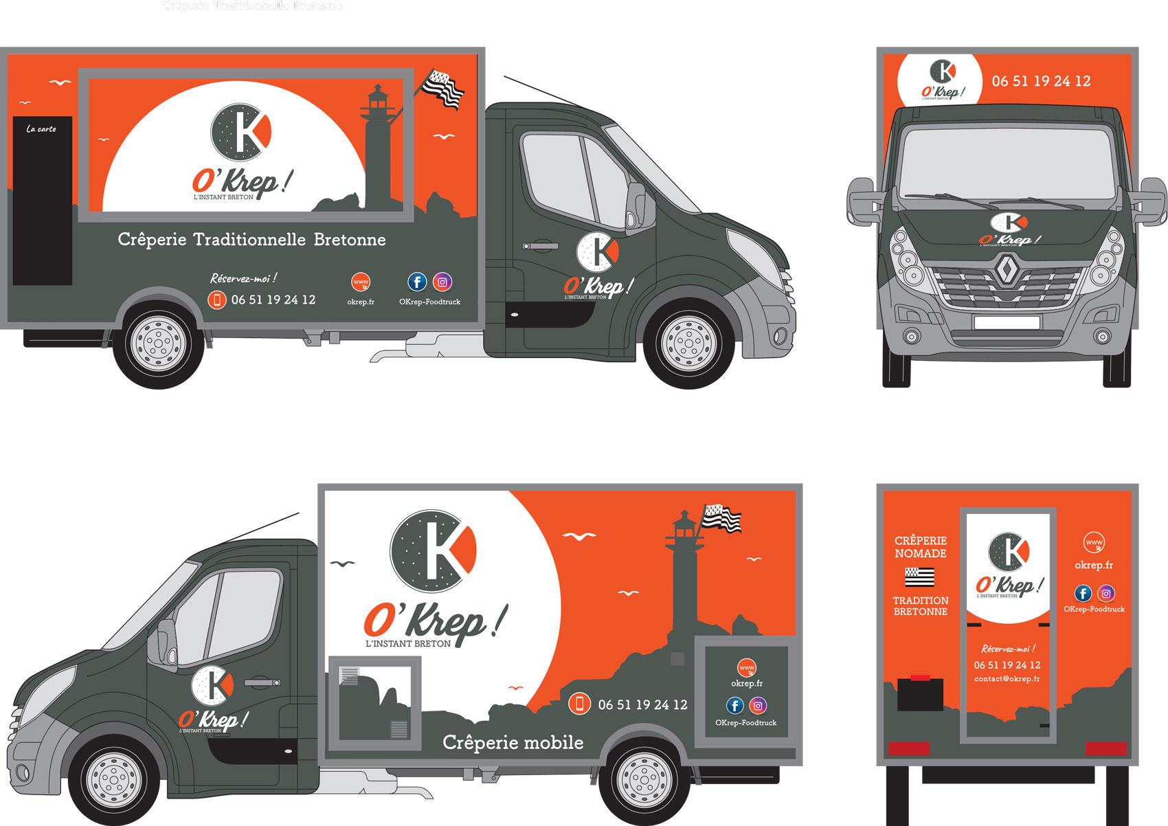 Habillage véhicule OKrep Food Truck