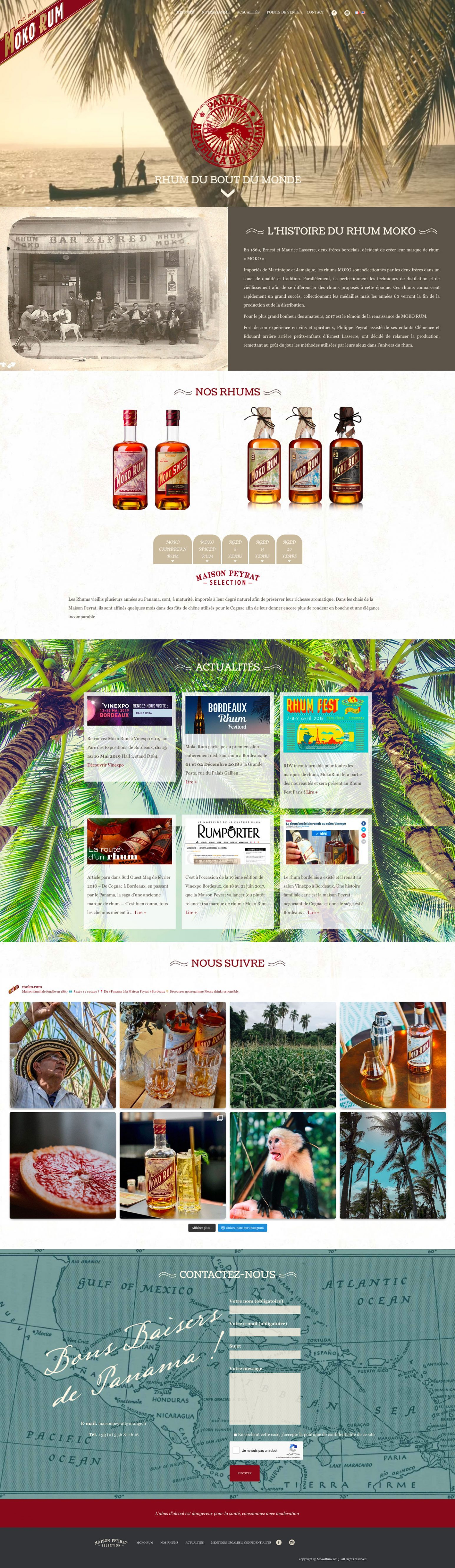 Site Internet MokoRum