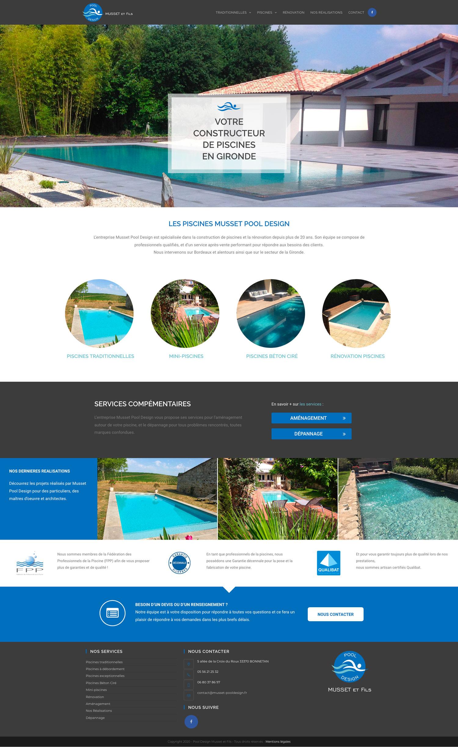 site Internet Musset Pool Design