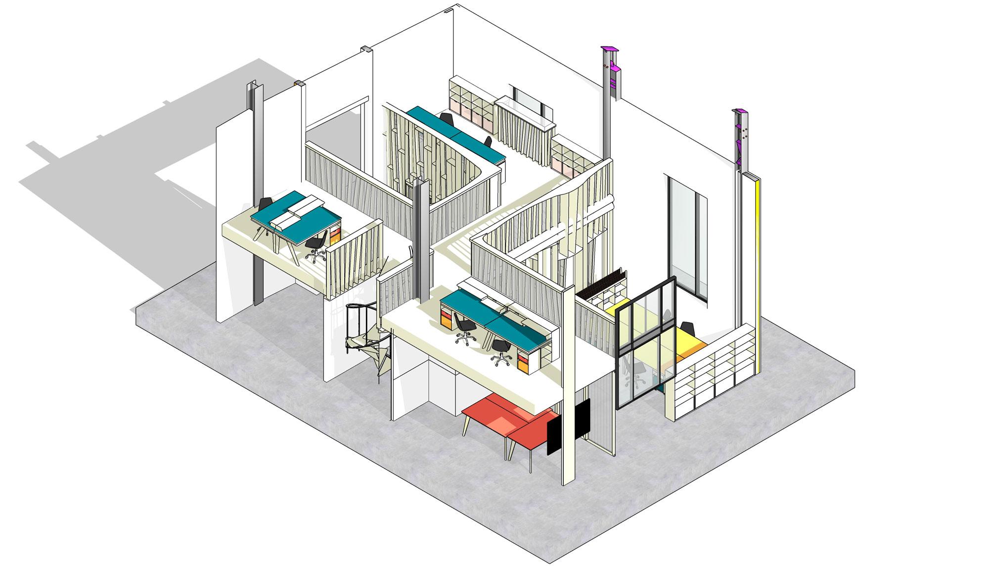 Les bureaux de l'Economat
